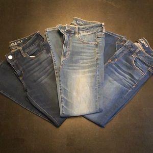 3 Pair Bundle of American Eagle Skinny Jeans